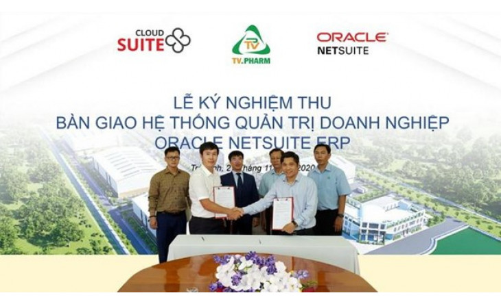 Ký nghiệm thu triển khai Dự án Ứng dụng phần mềm Oracle NetSuite Cloud ERP cho TV.PHARM