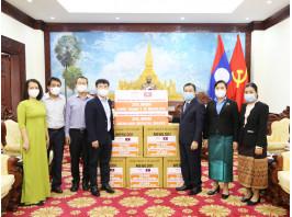 Trao tặng vật tư y tế hỗ trợ nhân dân Lào, Campuchia